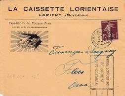 Lorient   - Flamme De 1931 - Postmark Collection (Covers)