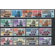 British Virgin Islands Queen Elizabeth II  Set Of Ships  From 1970.  This Set Is In Mounted Mint Condition. - British Virgin Islands