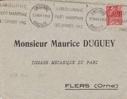 Libourne  - Flamme De 1931 - Postmark Collection (Covers)