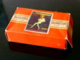 """""""LE THERMOGENE"""" Cataplasme, Boite (vide) En Carton Motif Publicitaire. - Boxes"""
