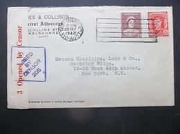 Australia:1942 Censored Cover To New York, N.Y. (#HC1) - 1937-52 George VI