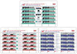 Malaysia 2017 S#1689-1691 MRT Full Sheet MNH Transport Train Railway Bus Disabilities Disabled - Malaysia (1964-...)