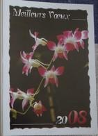Petit Calendrier Poche  2008 Fleur Orchidée  Pharmacie La Ferté Bernard - Calendars