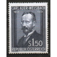 Austria Stamp Issued To Celebrate The 25th Death Anniversary Of Dr Auer Von Welsbach. - 1945-60 Unused Stamps