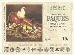 1986 29EME TRANCHE - Biglietti Della Lotteria