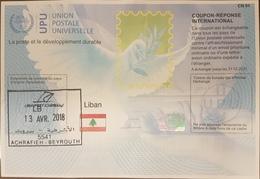 Lebanon Liban 2017-2018 UPU International Reply Coupon - Peace Dove - Lebanon