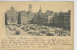 ALLEMAGNE - STUTTGART - Marktplatz Mit Stadtkirche - Stuttgart
