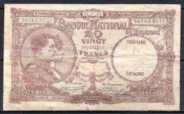 579-Belgique Billet De 20 Francs 1929 5614D0211 - [ 2] 1831-... : Belgian Kingdom