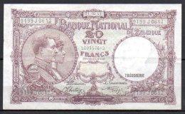 579-Belgique Billet De 20 Francs 1941 9199J0612 - [ 2] 1831-... : Royaume De Belgique