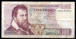 579-Belgique Billet De 100 Francs 1971 1531F4351 - [ 2] 1831-... : Royaume De Belgique