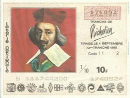 1985 73EME TRANCHE - Biglietti Della Lotteria
