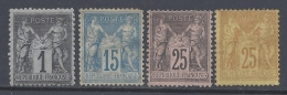 FRANCE 1876 SAGE II TYPE SMALL LOT - 1876-1898 Sage (Type II)
