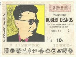 1985 49EME TRANCHE - Biglietti Della Lotteria