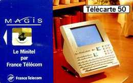 Télécarte 50 : France Telecom Minitel Magis Version Blanche - Opérateurs Télécom