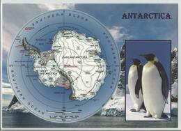 AK Map Antarctica - Postcards