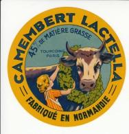Etiquette De Fromage Camembert Lactella. - Fromage