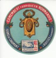 Etiquette De Fromage Camembert - Chaumont - Boissey - Calvados. - Cheese