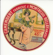Etiquette De Fromage Camembert - Montreuil Bellay - Anjou. - Fromage