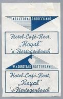 Suikerwikkel.- Embalage De Sucre. 's-Hertogenbosch. Hotel Café Restaurant. - Royal - Den Bosch. - Sugars