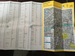 Transit Map Dublin (Ireland) - Subway Bus Tram - World