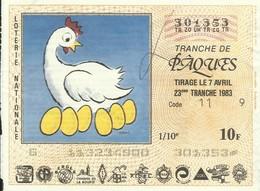 1983 23EME TRANCHE - Biglietti Della Lotteria