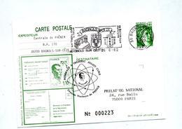 Carte Postale 1.4 Sabine Flamme Bagnols Sue Ceze Theatre Bibliotheque  + Cachet Centrale Phenix Hommage Curie - Biglietto Postale