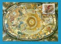 BRD  1989  Mi.Nr. 1420 , Cosmas Damian Asam - Maximum Karte - S Stempel Kelheim -5.-5.89 - [7] Federal Republic