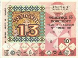 1981 74EME TRANCHE - Biglietti Della Lotteria