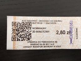 Ticket DeTram Lodz (Pologne) - Europa