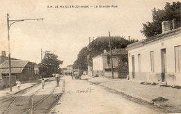 CPA - Le HAILLAN (33) - Aspect De La Ligne De Tram Avec Arrêt De La Grande-Rueau Début Du Siècle - France