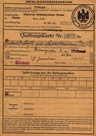 Invalidenversicherung De Thüringen Du 27.03.1944 - III Reich & Carte D'Assurance-Invalidité - Documents Historiques
