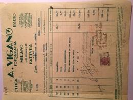 31-10-1943-DITTA A.VIGANO'-OTTICA-FOTOGRAFIA-RADIO-FATTURA SPEDITA A CONGREGAZIONE  DI  CARITA'-MARCA DA BOLLO CENT.50 - Italia