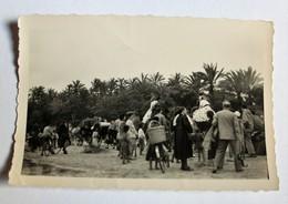 Ancienne Photo Gabès Tunisie Noël 1957 - Africa