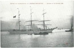 "Antwerpen - Anvers - Antwerp - Départ Du Navire-Ecole ""Cte Desmet-Denaeyer"" - Anvers Le 12 Février 1905 - Antwerpen"
