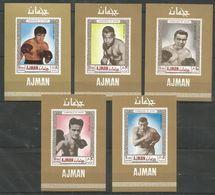 AJMAN - MNH - Sport - Boxing - Champions Of Sport - Imperf. - Boxe