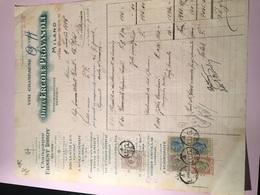 DITTA ERCOLE PROVASOLI-VINI-CHAMPAGNE-LIQUORI-MILANO-VIA CARLO ALBERTO-4-7-1925 - Italia
