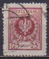 POLONIA  1925 FRANCOBOLLI CON NUOVO VALORE YVERT. 294 USATO VF - 1919-1939 Repubblica