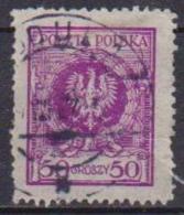 POLONIA  1925 FRANCOBOLLI CON NUOVO VALORE YVERT. 297 USATO VF - 1919-1939 Repubblica