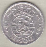 Colonie Portugaise, Angola, 10 Escudos 1952. Argent . KM# 73 - Angola