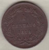 Venezuela . 1 Centavo 1858 . LIBERTAD . Copper. Y# 7 - Venezuela