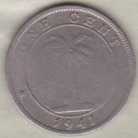 Liberia . 1 Cent 1941. Eléphant. Copper-Nickel. KM# 11a - Liberia
