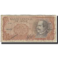 Billet, Chile, 10 Escudos, 1967, KM:143, B+ - Chili