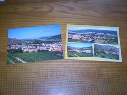 Sarras Ardèche; Vues Multiples & Vue Générale, Les Côteaux De Vigne. Lot De 2 Cartes - Other Municipalities