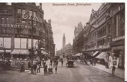 Warwickshire Postcard - Corporation Street - Birmingham - Ref ND830 - Birmingham