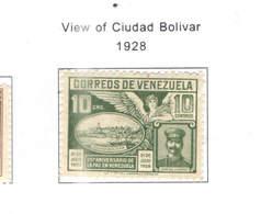 Venezuela PO 1928 Veduta Città Bolivar  Scott.289+  See Scan On Scott. Page - Venezuela