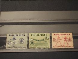 FILIPPINE - 1954 SPORT  3  VALORI - NUOVI(++) - Filippine