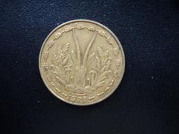 ÉTATS DE L'AFRIQUE DE L'OUEST : 10 FRANCS  1978   KM 1a     SUP - Monnaies