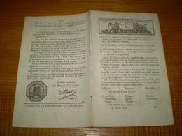 Loi An IX:Costume Substitut Commissaire Du Gouvernement.Gestion Des Chevaux De L'Armée.Montalivet De Valence,préfet Manc - Decreti & Leggi