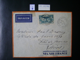 FRANCE (VIA AIR FRANCE) - LETTER WITH SEAL OF 10FR SENT FROM PARIS TO BRAZIL IN 1937 IN THE STATE - Covers & Documents