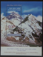 INDIA Year 2003,15 Rs. Golden Jubilee Of The Ascent Of Mount Everest, Edmund Hillary And Tenzing Gorgay. MNH SG: MS 2135 - Hojas Bloque